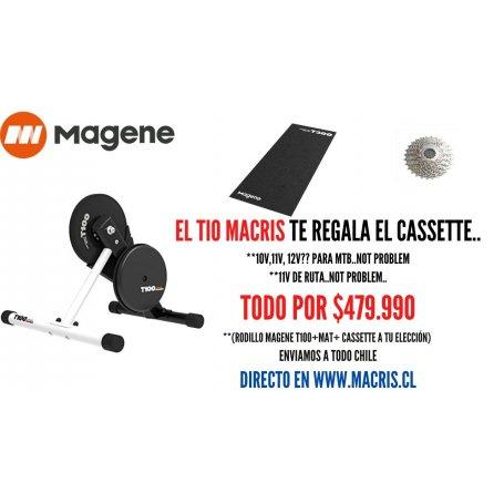 Pack Rodillo Magene T100+Cassette 12v( MTB)+Matt. Disponible
